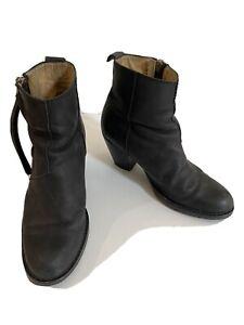 Acne Studio Pistol Boots In Black Leather, Sz 37