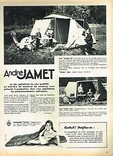 K- Publicité Advertising 1958 Camping Tente André Jamet