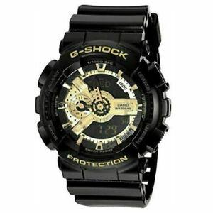 Casio G-Shock Analogue/Digital Mens Black/Gold Watch GA110GB-1A GA-110GB-1ADR H5