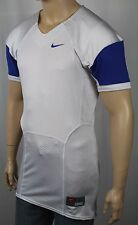Nike White Royal Blue Pro Combat Speed Football Jersey NWT $75