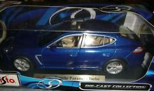 MAISTO PORSCHE PANAMERA TURBO BLUE DIECAST CAR 1/18 36197
