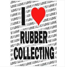 I Love Rubber Collecting - A3 Poster - Gift Birthday Christmas Stocking Fillers