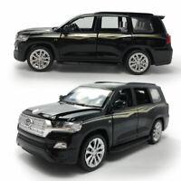 1:32 Toyota Land Cruiser SUV Model Car Diecast Toy Vehicle Pull Back Black Gift