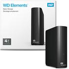 """WD WDBWLG0040HBK-EESN Elements Hard Disk Esterno Desktop, USB 3.0, 4 TB 3,5"""""""