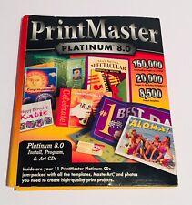 PrintMaster Platinum 8.0 Disc 11 Pack Art CDs Broderbund Vtg Software Templates