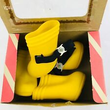 vintage The Classic Dog boots yellow dog booties antique size medium adorable