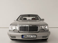Mercedes-Benz s600 1997 1/18 NOREV 183563 MERCEDES 126 w140 classe-S S-CLASS SIL