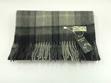 Scottish grey buchanan tartan 100% laine d'agneau écharpe tout neuf avec étiquettes
