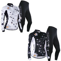 Women Sport Bicycle Clothing Cycling Jersey&Pants Team Kits Suits Long sleeve