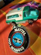 Hot Wheels Redline Heavy Weights Ambulance Truck w Original Button MINT Flawless