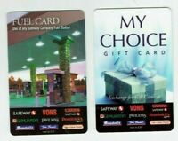 Safeway Vons Gift Card - LOT of 2 - Fuel Card, My Choice - Older - No Value