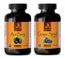 Antioxidant pills - ACAI BERRY – GRAPE SEED EXTRACT COMBO - acai fiber powder