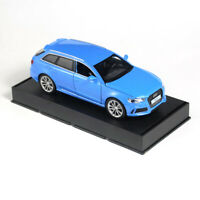 Audi RS6 Quattro 1:32 Scale Model Car Metal Diecast Gift Toy Vehicle Kids Blue