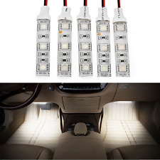 2x WarmWhite 5cm LED Light strip 12V Car Courtesy stereo Glove box under dash