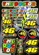 MOTORBIKE STICKER ROSSI 46 THE DOCTOR A4 DECAL BUMPER RIDER YAMAHA DUCATI BIKE