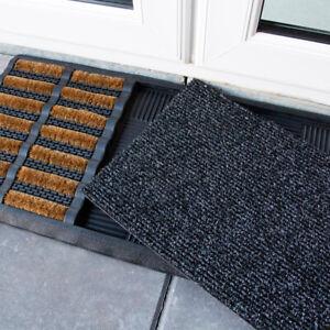 Boot Scraper Brush Doormat   Natural Coir Mats Dirt Catcher   Heavy Duty Rubber