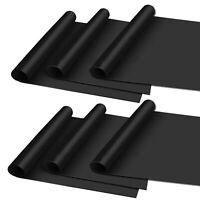 6 Stück Dauer-Grillmatte schwarz antihaft   Grillunterlage Backmatte BBQ Matte