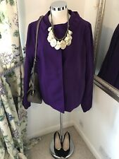 Marni Size 44 UK 16 Purple Wool blend blazer jacket coat vgc 10% cashmere