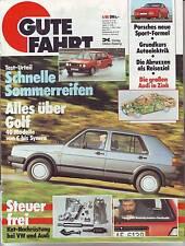 Gute Fahrt 4/86 VW Golf alle Modelle/Porsche 944 Turbo Cup/verzinkt damals /1986