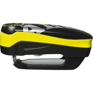 Abus Detecto 7000 RS 1 Motorcycle Motorbike 110db Alarm Pixel Disc Lock Yellow
