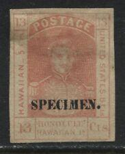 Hawaii 13 cents 1868 SPECIMEN