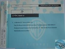 PRINCE I HATE YOU PROMO CD