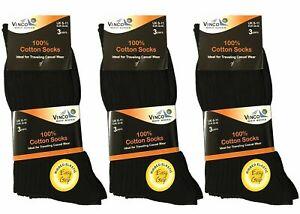 6 x Pairs Mens Vinco Grip 100% Cotton Socks Soft Top Easy Grip Assorted Colour