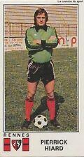 N°284 PIERRICK HIARD # STADE RENNAIS STICKER PANINI FOOTBALL 1977
