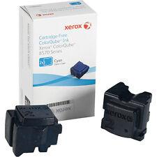 Genuine Xerox ColorQube 8570 Cyan Solid Ink Sticks (108R00926), 2/Pack