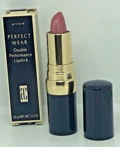New In Box Avon Perfect Wear Double Performance Lipstick ~ Mauve Ice .13 Oz.