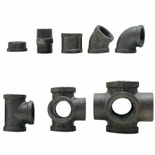 """Industrial Black Malleable Reducing Metal Pipe Fittings Connectors Joints 3/4"""""""