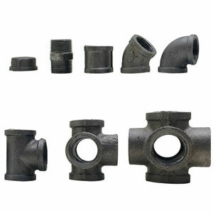 Industrial Black Malleable Reducing Metal Pipe Fittings Connectors Joints 3/4""