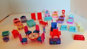 Doll House Furniture, Room Items, Small Plastic