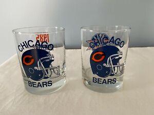Chicago Bears 1985 Super Bowl Rocks Glasses