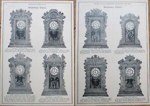 Waterbury Kitchen Clock Advertising/Print/Marshall Field 1893 Catalog Page