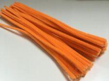 10-5,000 X Naranja Calabaza Limpiadores De Pipa chenille Artesanía Tallos 30cm largo, 6mm de ancho