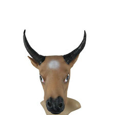 Creepy Bull Cow Ox Head Face Animal Costume Halloween Party Prop Carnival Mask