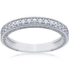 Pompeii3 14K White Gold 1/2ct Vintage Diamond Wedding Ring (G/H, I1-I2) - SZ 5.5