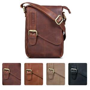 ROYALZ Vintage Leder Tasche Klein für Herren Umhängetasche Mini Seitentasche