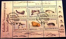 Greenland Block 1991.03.14. Seals Marine Mammals Fauna - FDC - EXCELLENT!