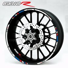 BMW G310R motorcycle wheel decals stickers set rim stripes Laminated g310 R