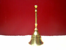 """Bell 4"""" Hand Held Service Chime Brass Hotel Shop Reception Dinner Free Ship"""