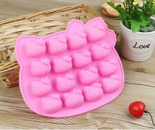 Hello Kitty Silicone Chocolate Cookies Baking Mould DIY Ice Cube Mold Tray Mould