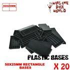 20PCS Rectangular Square Bases 50x25mm Black Plastic Base Wargame Warhamemer