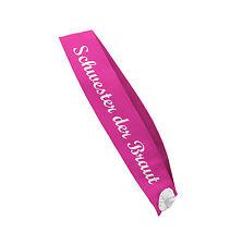 SCHWESTER DER BRAUT Schärpe pink Junggesellinnenabschied Party Accessoire JGA