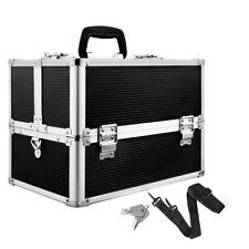 Portable Cosmetics Case Beauty Makeup Carry Case Box Organiser Black
