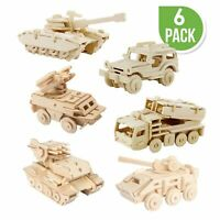 New Hands Craft 3D Puzzle 6 Assorted Pieces Military Vehicle Set