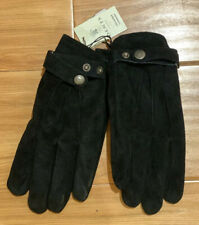 NWT Dents Real Luxury Leather Suede Black Gloves Touchscreen Tech Sz Men XL