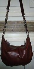 Designer B. MAKOWSKY Brown Croco Leather Handbag Shoulder Bag Tote Purse
