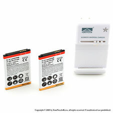 2 x 1900mah Battery for LG Lucid VS840 Viper 4G LTE LS840 Charger